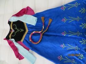 Childs Frozen Anna dressing up outfit 7-8 yrs