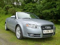 Audi A4 Cabriolet Convertible 2006 2.0 TFSI S Line Multitronic Gear Box – Auto + Paddle Shift.