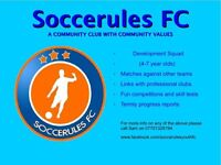 Footbally players wanted 4-7 year olds
