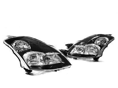 Black Headlights w/ Smoke Reflector for 07-09 Nissan Altima Sedan
