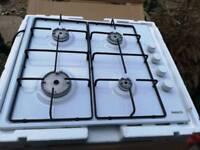 White Beko integrated gas hob