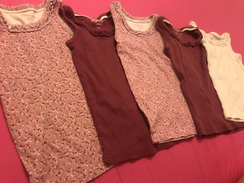 8314e5062 5 x girls vests - 3 Years old - Matalan   in Tuffley, Gloucestershire ...