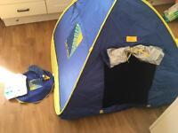 Baby pop up sun sense tent - like new!