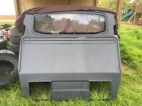 2014 vw transporter kombi van bulkhead grey plastic with window