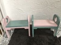 Two small stools for Toddlers