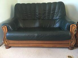 Leather sofas & armchair