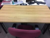 Rectangular Wooden Office Desk.