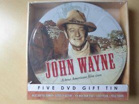 John Wayne Five DVD Film Spool Gift Tin set