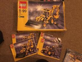 REDUCED - 3x Old Lego Tecknic - 8421 - 8455 - 8436 and box of Lego