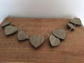 Wooden decorative hearts with clips