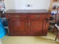 Solid wood sideboard. Selling for