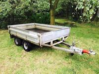 RICHARDSON TWIN AXLE GALVANISED DROPSIDE TRAILER, LIKE IFOR WILLIAMS TRAILER, RECENTLY SERVICED