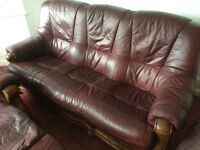 Leather 3 piece with electric reclining chair