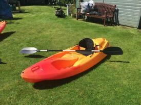 Ocean Kayak Sport Yak with paddles and back rest