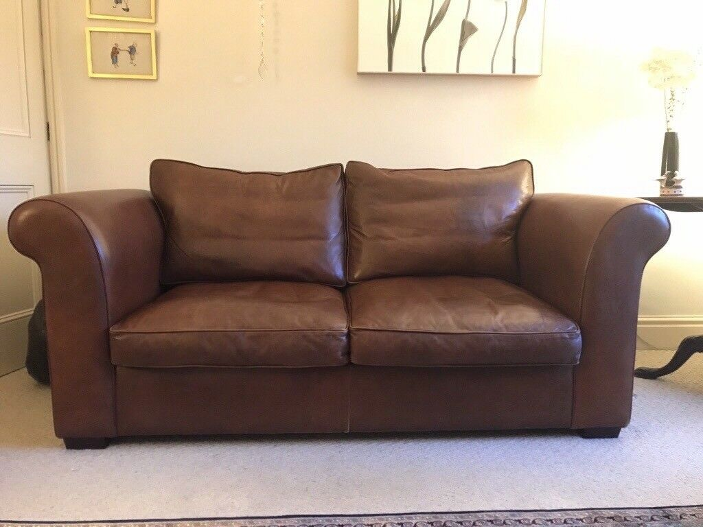 laura ashley bradford leather 2 seater sofa in minchinhampton gloucestershire gumtree. Black Bedroom Furniture Sets. Home Design Ideas