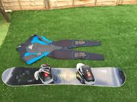 SNOWBOARD WITH BIDINGS + CLOTHES