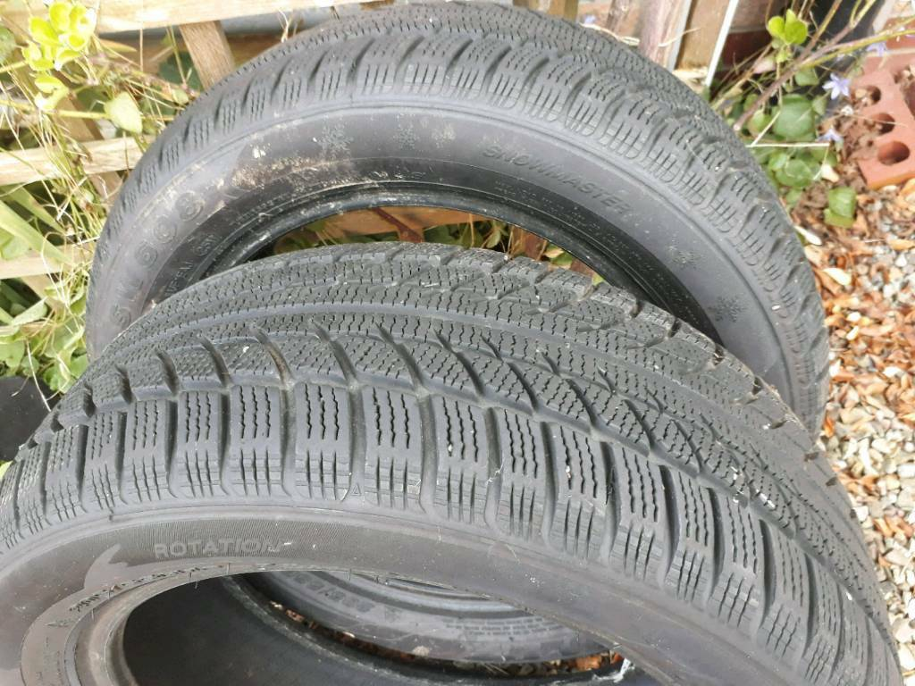 A pair of winter tyres for sale