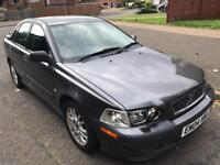 Volvo s40 1.8 sport auto, 2004, petrol, grey, 4 doors, leather seats, 91k s/h, mot sept 2018,