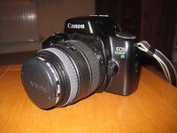 CANON EOS 1000F SLR Film Camera Body with 2 SIGMA Zoom Lenses