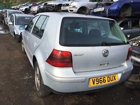 VOLKSWAGEN GOLF GTI (115 BHP) 1999- FOR PARTS ONLY