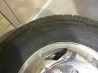 Brand new tires and rims for a gmc or Chevy dually