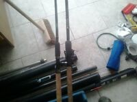 feeder rods +reel