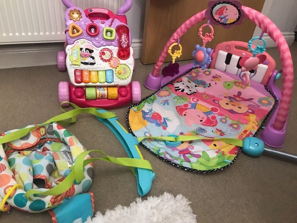 47936349657c Baby door bouncer and walker and play gym