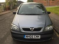 2005 7 SEATER VAUXHALL ZAFIRA WITH AC,2 PREVIOUS OWNERS,2 KEYS