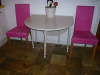 Folding Dining Table in Oyster coloured paint