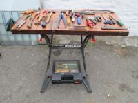 Workmate 536 with tools and drill