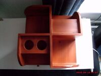 DESK TOP STORAGE CUBE, ALL WOOD CONSTRUCTION, VERY GOOD CONDITION