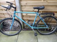 RALIEGH ,DUAL MOUNTAIN BIKE, HYPER GLIDE SUSPENSION, ADULT, GOOD CONDITION, £45, CAN DELIVER