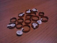 Wholesale job lot bundle of 15 NEW his and hers stainless steel gold wedding bands rings