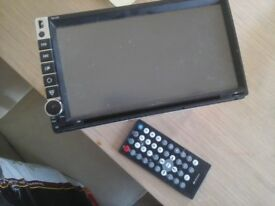 Android touch screen car stereo, full working and in excellent condition with remote control