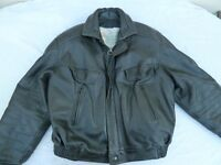 Frank Thomas B52 Pilot black leather motorcycle jacket