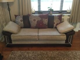 2 large 3 seater sofas