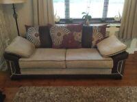 2 large 3 seater sofas
