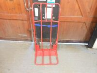 extra wide industrial heavy duty cargo sack trucks with large toe plate and pneumatic wheels