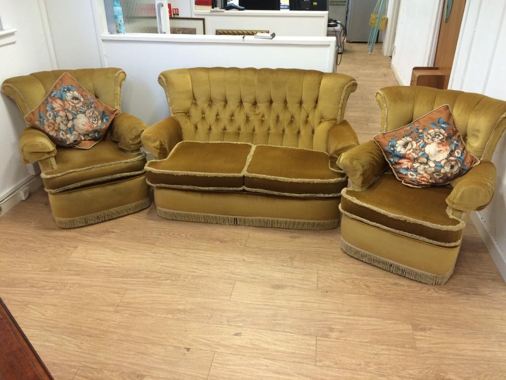 Vintage 1950s 3 piece suite
