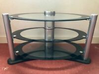 Glass television unit in perfect condition