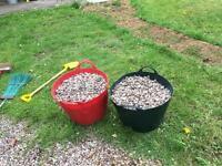 Decorative garden pebbles