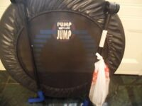 pump and jump fitness trampoline with handles like new