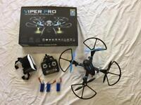 Drone. Viper Pro high performance drone with HD video camera