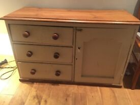 Pine sideboard, previously a dresser base. Needs some TLc perfect for upcycling