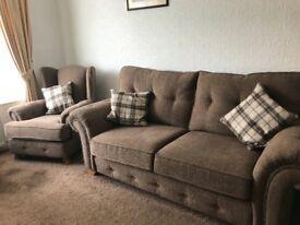 Oak Furniture Land Montana 2 Seater Sofa and Arm Chair