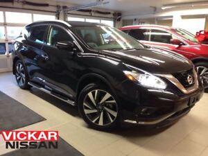 2016 Nissan Murano PLATINUM/BLACK ON BLACK/1 OWNER LOCAL TRADE!!