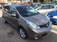 2010/10 NISSAN NOTE 1.4 16V N-TEC 5 DR BEIGE,HIGH SPEC INC SAT NAV,LOW MILEAGE,ECONOMICAL TO RUN