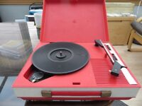Fidelity HF42 Vintage Portable Record Player 33/45/78 RPM Good condition