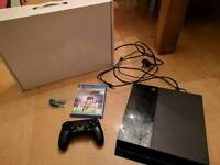 Sony Playstation 4 500gb, boxed with 2 games and pad