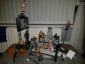 WWE Wrestling High Flyin Fury Playset plus lots of extras